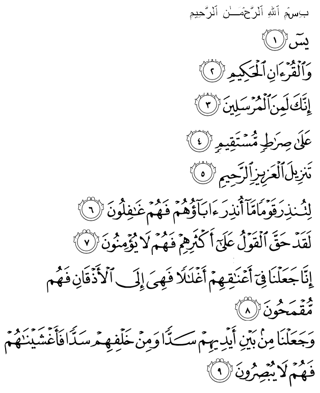 A Qur'anic formula of remaining hidden from enemy sight